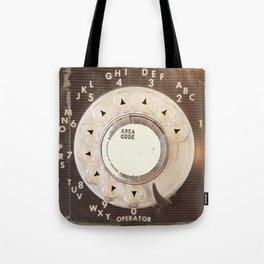 Rotary Phone Dial, Vintage Phone Tote Bag