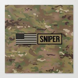 Military: Sniper (Camo) Canvas Print