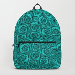 Bright turquoise roses Backpack