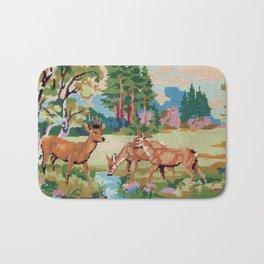 Cross stitch Deer Bath Mat