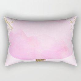 Pink & Gold Glitter Cotton Candy Rectangular Pillow
