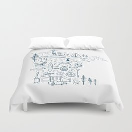 Minnesota Up North Collage Duvet Cover