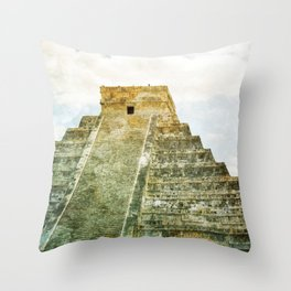 Chichen Itza pyramid Throw Pillow