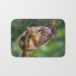 Who, Me? A Saucy Red Squirrel Bath Mat