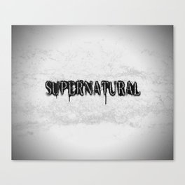 Supernatural monochrome Canvas Print