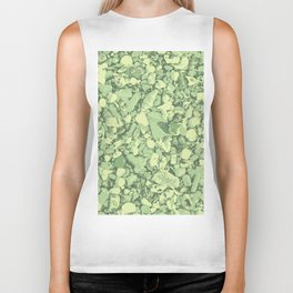 Soft green spring shapes and colors Biker Tank