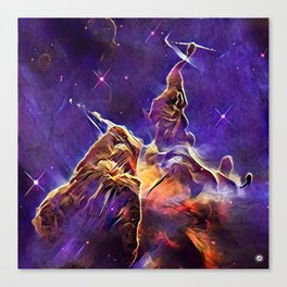 ALTERED Hubble Mystic Mountain- Carina Nebula Canvas Print