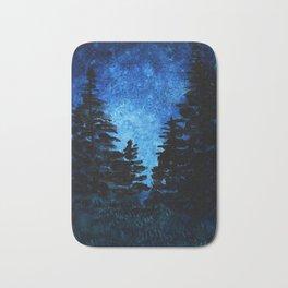 Blue Sky - Evergreen Trees Bath Mat