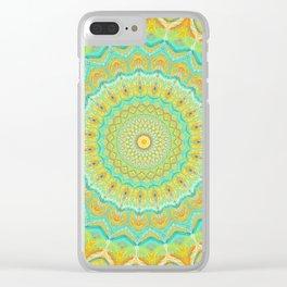 Citrus Burst - Mandala Art Clear iPhone Case