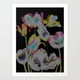 Art Floral Shop Decoupage Painting © by Catherine Lott Art Print