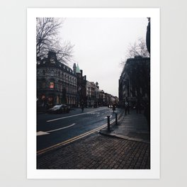Streets of Dublin Art Print