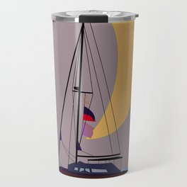 Boat in the middle of the night Travel Mug