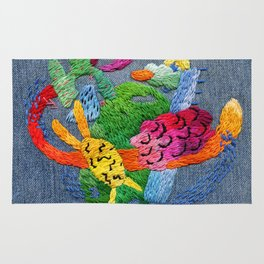 abstract embroidery Rug