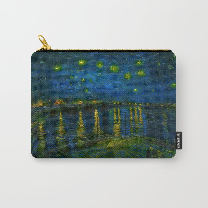 Starry Night Over the Rhône 1888 oil on canvas by Vincent van Gogh Carry-All Pouch