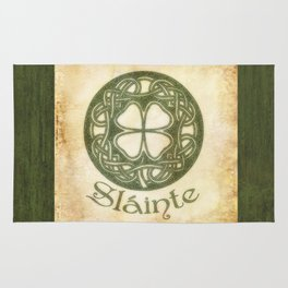 Slainte or To Your Health Rug