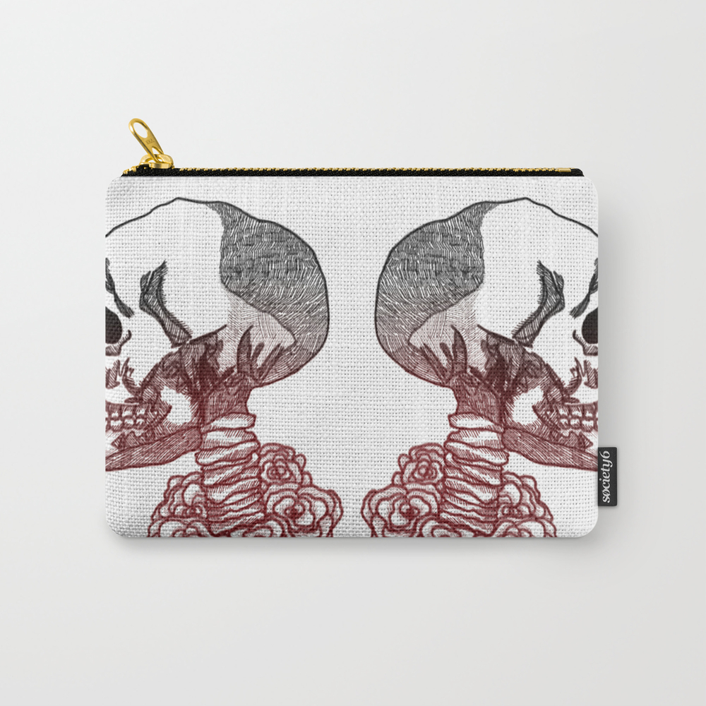 Twin Skeletons Carry-all Pouch by Pugnaciousfoolio CAP9040850