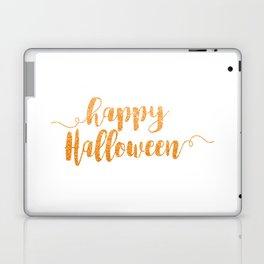 Happy Halloween | Orange Glitter Laptop & iPad Skin