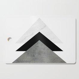Arrows Monochrome Collage Cutting Board