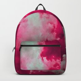 Tumultuous in ruby and mint Backpack