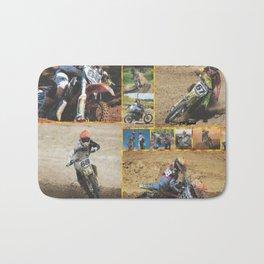 Motocross Collage Bath Mat