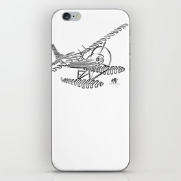 Flying Floating Lines iPhone Skin