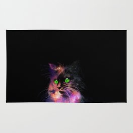 Space Cat Awaits in the Stars Rug