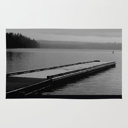 Suttle Lake in Gray and Black Rug