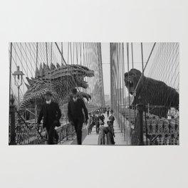 Old Time Godzilla vs. King Kong Rug