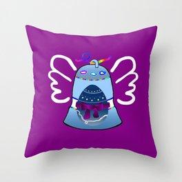 Bell on Purple Throw Pillow