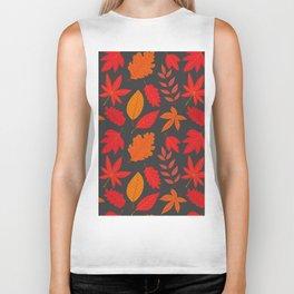 Red autumn leaves Biker Tank