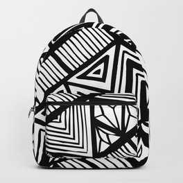 Original Geometric ink-pen print Backpack
