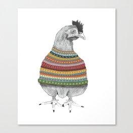 Chicken Fashion Canvas Print