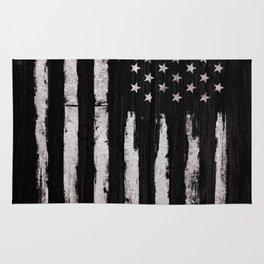 White Grunge American flag Rug