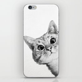 sneaky cat iPhone Skin