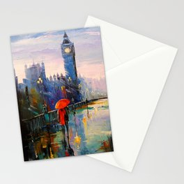 Rain in London Stationery Cards