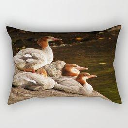 Common Merganser Family Rectangular Pillow
