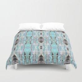 Pattern in Turquoise & Black Duvet Cover