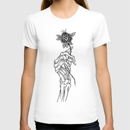 skeleton hand T-shirt