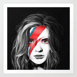 Bowie Sky Art Print