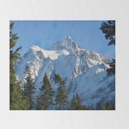 Snowy Mountain Throw Blanket