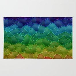 Rainbow abstraction Rug
