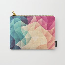 Geometry Triangle Wave Multicolor Mosaic Pattern - (HDR - Low Poly Art) - FULL Carry-All Pouch