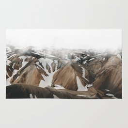 Iceland Snow and Mountains Rug