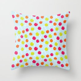 Watercolour Lolly Pops, Watercolor Popsicles Throw Pillow