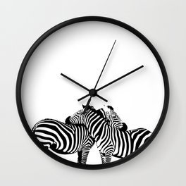 Two Color Love Wall Clock