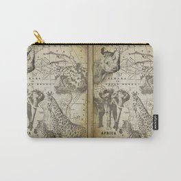 Out of Africa vintage wildlife art Carry-All Pouch