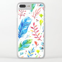 Boho Chic White by Mimi Bondi Clear iPhone Case