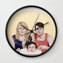 Everyone's up for popcorn Wall Clock