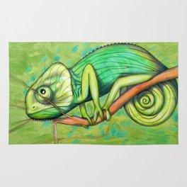 green chameleon (ORIGINAL SOLD). Rug