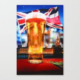 English Beer In A London Pub Canvas Print